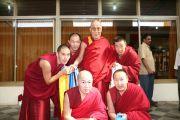 Дээрхийн гэгээнтэн Далай лам Гоман дацанд шавилан суралцаж буй Монгол лам нартай уулзав. 2008 оны 1 сар