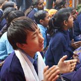 """Дээрхийн Гэгээнтэн Алис төслийн сургуульд зочилж, """"Буддизм ба Нийгэм"""" сэдэвт бага хуралд үг хэлэв"""